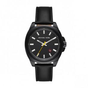 Horlogeband Michael Kors MK8632 Leder Zwart 20mm