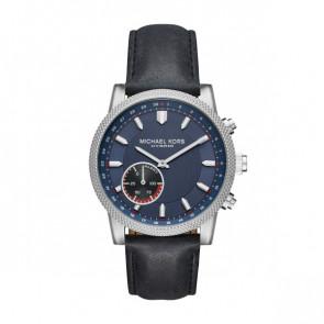 Horlogeband MKT4024 Leder Blauw 22mm