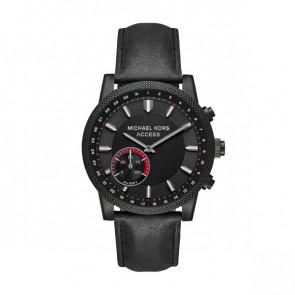 Horlogeband MKT4025 Leder Zwart 22mm