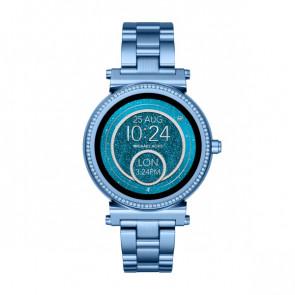 Horlogeband Michael Kors MKT5042 Staal Blauw 18mm
