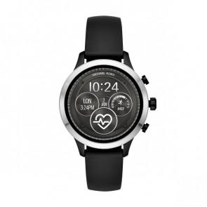 Horlogeband MKT5049 Rubber Zwart 18mm