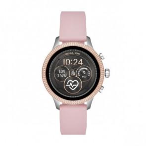 Horlogeband Michael Kors MKT5055 Leder Roze 18mm