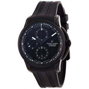Horlogeband Maurice Lacroix PT6188 / ML640-000027 Rubber Zwart