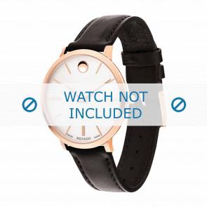 Movado horlogeband 0607093 Leder Donkerbruin 16mm + standaard stiksel