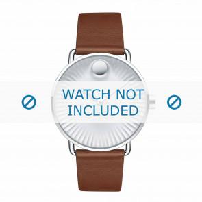 Movado horlogeband 3680038 Leder Cognac 20mm