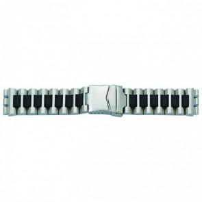 Horlogeband passend aan Swatch staal zwart 19mm 1075