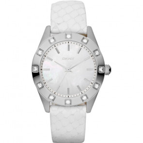 Horlogeband DKNY NY8790 Leder Wit