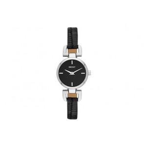 Horlogeband DKNY NY8878 Leder Zwart