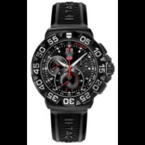 Horlogeband Tag Heuer CAH1012 Rubber Zwart 22mm