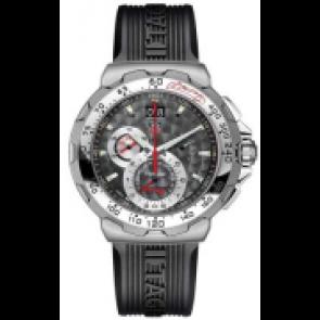 Horlogeband Tag Heuer CAH101D / BT6040 Kunststof/Plastic Zwart 22mm