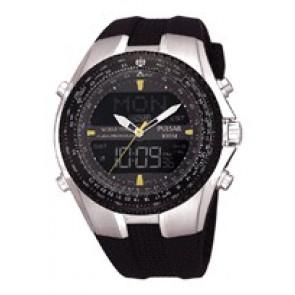 Horlogeband NX14-X00101 Silicoon Zwart