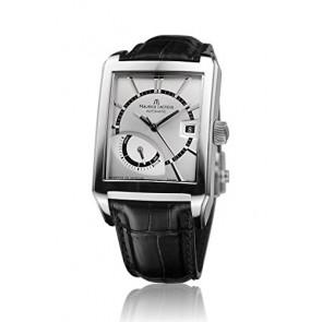 Horlogeband Maurice Lacroix PT6217-SS001-130 Leder Zwart