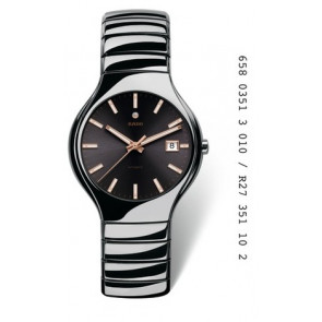 Horlogeband Rado R 27351102 ( 07.04671) Keramiek Grijs