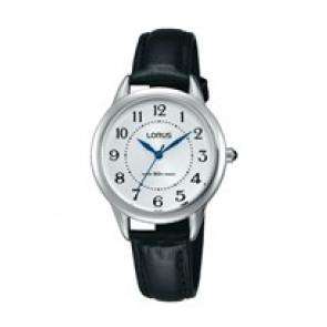 Horlogeband Lorus PC21-X094 / RG253JX9 / RHU043X Leder Zwart 12mm