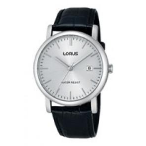 Horlogeband Lorus VJ32-X246 / RG839CX9 / RHG008X Leder Zwart 20mm