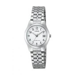 Horlogeband Lorus VJ22-X153 / RH767AX9 / RHN035X Staal 13mm