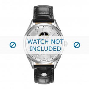 Horlogeband Roamer 550661-41-22-05 Leder Zwart 20mm