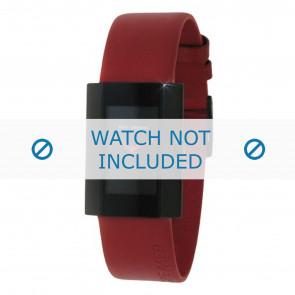 Rolf Cremer horlogeband 501005 Leder Rood 18mm