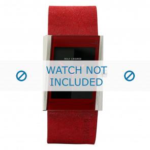 Rolf Cremer horlogeband 502011 Leder Rood 26mm