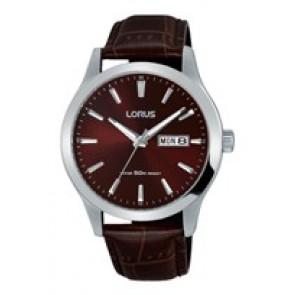 Horlogeband Lorus VX43-X097 / RXN31DX9 / RHG089X Leder Bruin 20mm