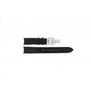 Horlogeband Seiko 7D56-0AA0 / SNP037P1 Leder Zwart 21mm