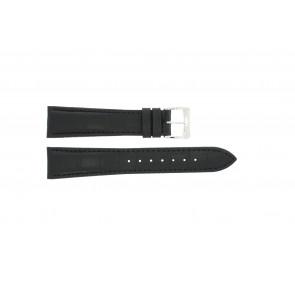 Horlogeband Raymond Weil SI1501-BSB-C-2 Krokodillenleer Zwart 15mm