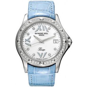 Horlogeband Raymond Weil SI2003-TANGOB-C8 Croco leder Blauw 20mm