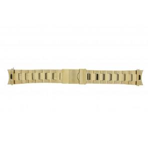 Prisma horlogeband STD22 Staal Goud 22mm