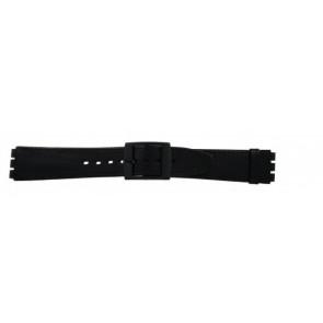 Horlogeband Swatch (alt.) SC15.01 Leder Zwart 16mm