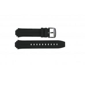 Horlogeband Tissot T111.417.37.441.03 / T603042129 Silicoon Zwart 18mm