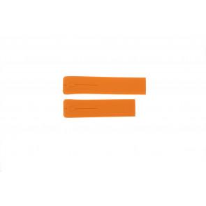 Tissot horlogeband T013.420.A - T610026463 / T047.420.A Rubber Oranje 21mm
