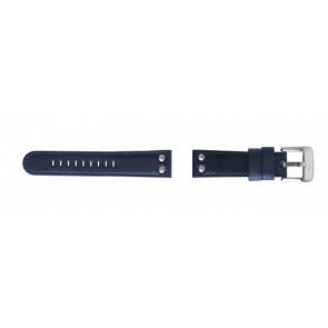 Horlogeband TW Steel TWB400 Leder Blauw 22mm