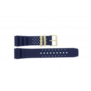 Citizen horlogeband TZE-S285.22DBL / Citizen Rubber Blauw 22mm