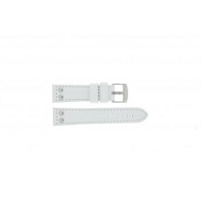 Tzevelion horlogeband Tzev.2844.09 Leder Wit 22mm + standaard stiksel