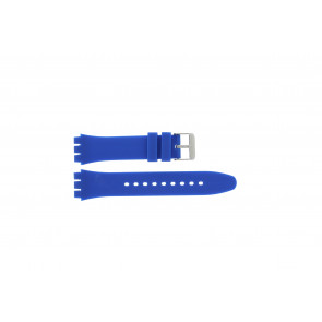 Tzevelion horlogeband Tzev-SW Silicoon Blauw 18mm