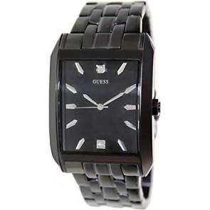 Horlogeband Guess U13517G1 Staal Zwart