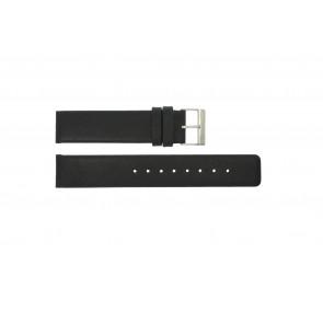 Horlogeband Obaku V112 Leder Zwart 20mm
