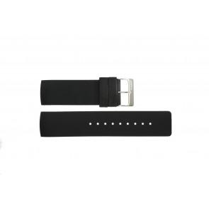 Horlogeband Obaku V118L Rubber Zwart 24mm