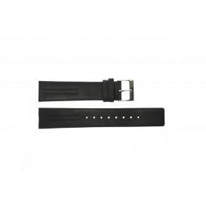 Horlogeband Obaku V122 Leder Zwart 20mm