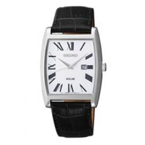 Horlogeband Seiko V137-0AB0 Leder Zwart