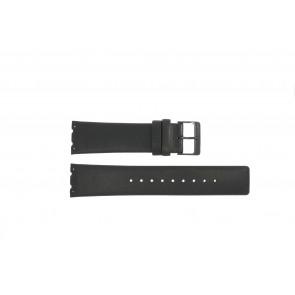 Horlogeband Obaku V137 Leder Zwart 23mm