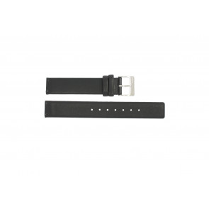 Horlogeband Obaku V139 Leder Zwart 16mm