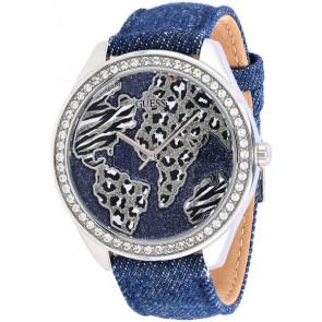 Horlogeband Guess W0504L1 Leder/Textiel Blauw 20mm