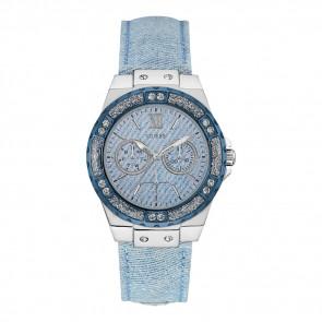 Horlogeband Guess W0336L7 / W0775L1/ W0703L3 Textiel Blauw 20mm