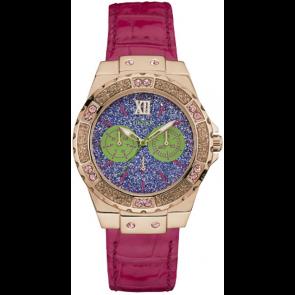 Horlogeband Guess W0775L4 (BRC-W0775L4) Leder Roze
