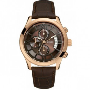 Horlogeband Guess W14052G2 Leder Bruin