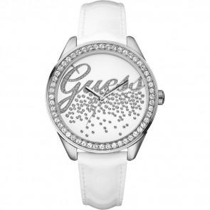 Horlogeband Guess W60006L1 Leder Wit 16mm