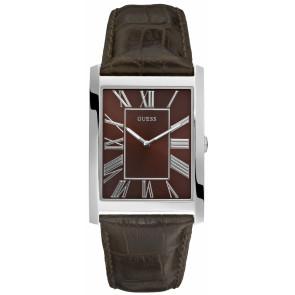Horlogeband Guess Guess W65016G2 Croco leder Bruin 23mm