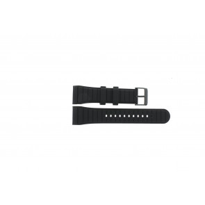 Horlogeband Pulsar W861-X006 / PQ2011X1 / PQ2046X1 / PQ2048X1 Rubber Zwart 24mm