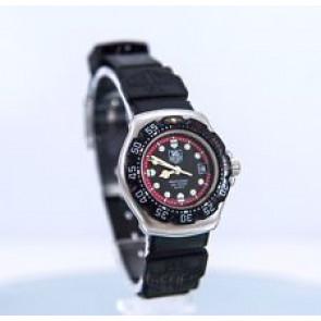 Horlogeband Tag Heuer WA1411 / BS0481 Kunststof/Plastic Zwart 15mm